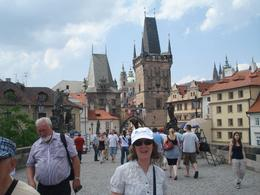 Prague day trip from Vienna: My wife on the Charles Bridge. Incredible history. Statues on this bridge are amassing., David F - July 2010