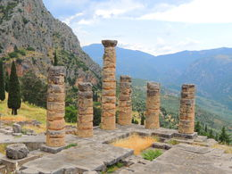 The temple ruins in Delphi , Kevin F - June 2015