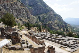 View of Apollo's temple at Delphi. , cab0118 - July 2011