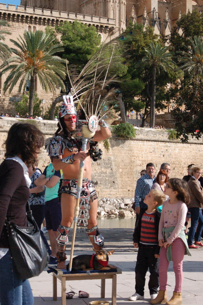 Have your photo taken with an Astec warrior - Mallorca