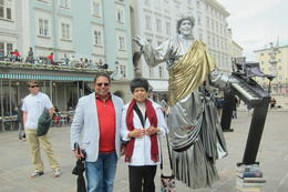 Mrunalini and Dilip with Mozart in Salzburg ! , Dilip K - June 2014