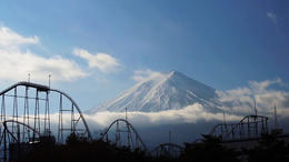 For a short moment when passing the famous Fuji-Q amusement park we were able to see the mountain! , Sandra C - January 2014