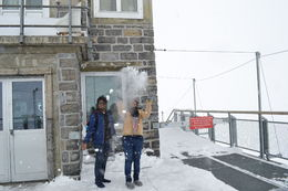 My wife and myself at Jungfraujoch while playing with the snow in the freezing cold! , KANDA SAMY S - May 2016