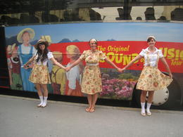 Infront of the tour bus , Erin C - August 2011