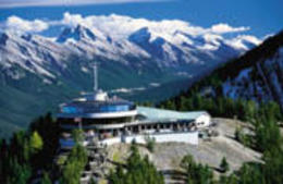 Views from on top of Sulphur Mountain, Banff National park. , BrewsterCanada - April 2012