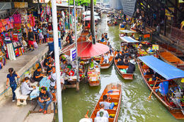Learn about traditional Thai life on the waterways during this day trip to the Damnoen Saduak Floating Market., Viator Insider - December 2017