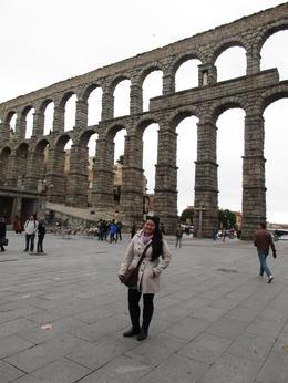 Famous Roman Aqueduct in Segovia , JANNINE R - February 2017
