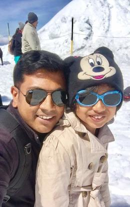 I had a great time with my kid at the top of titlis , Shyamjith - May 2017