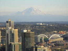 View of Mt. Ranier from the top of the Space Needle , Richard T - September 2017