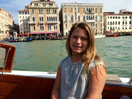 Just got to Venice with my daughter and she loves our fancy transport : , onniv - July 2015