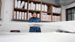 At a silk factory! - March 2012