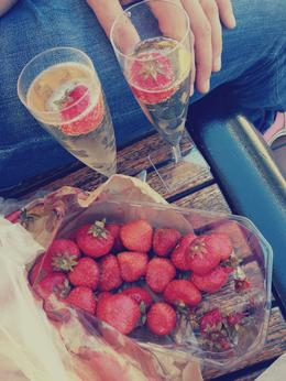 Delicious Champagne and strawberries made the mini cruise one to remember. , Lauren W - July 2014