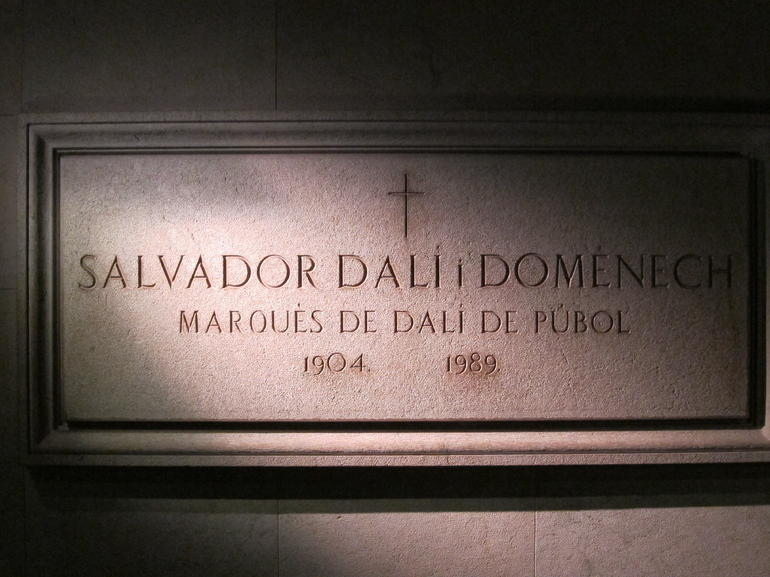 Dal�'s tomb in the museum at Figueres - Costa Brava