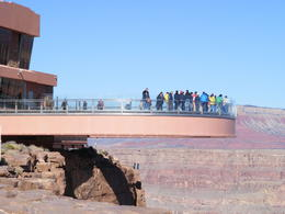 View of SkyWalk as seen from canyon edge. , DHill - December 2013