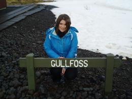Before walking the slippery walk to Gulfoss, JAYNE S - March 2009