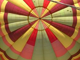 Inside the inflated balloon - April 2010