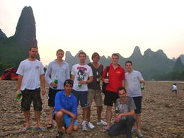 Photo op with the karst peaks in the background - January 2013