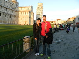 Us in front of the leaning tower of Pisa. , Cassandra B - March 2015