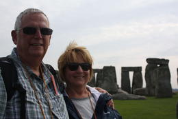 My wife and I at Stonehenge - an amazing site and story. , Steve L - October 2013
