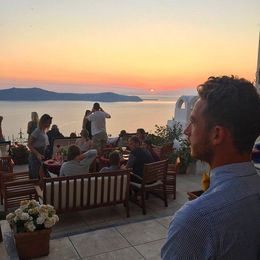 Sunset from Palia Kameni Bar - August 2015