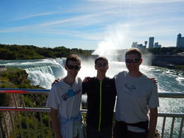 My two sons and I enjoying the view from the Maid of the Mist observation tower. , Chuck K - October 2016