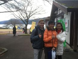 Taken at Lake Ashi! With Take-san! , Rayhan Tee - December 2016