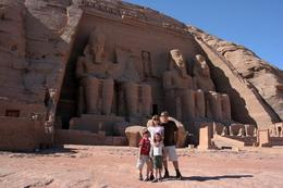OK, so here we are in front of Abu Simbel. Used a tripod although the guide didn't think it was allowed - maybe he wanted a tip to take the picture instead of me using a timer:-), Kenneth N - December 2007