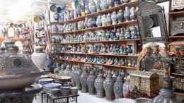 Cerámica, alfombras, babuchas, chilabas, kastanes, cajitas de madera y marfil. productos cosméticos y de botica... multitud de productos para atraer el bolsillo del turista. , EUSEBIO A - July 2016