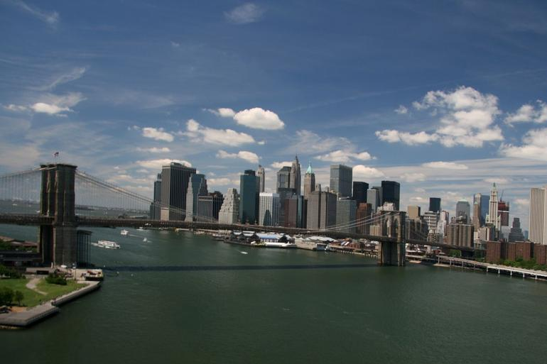 Downtown from Manhattan Bridge - New York City