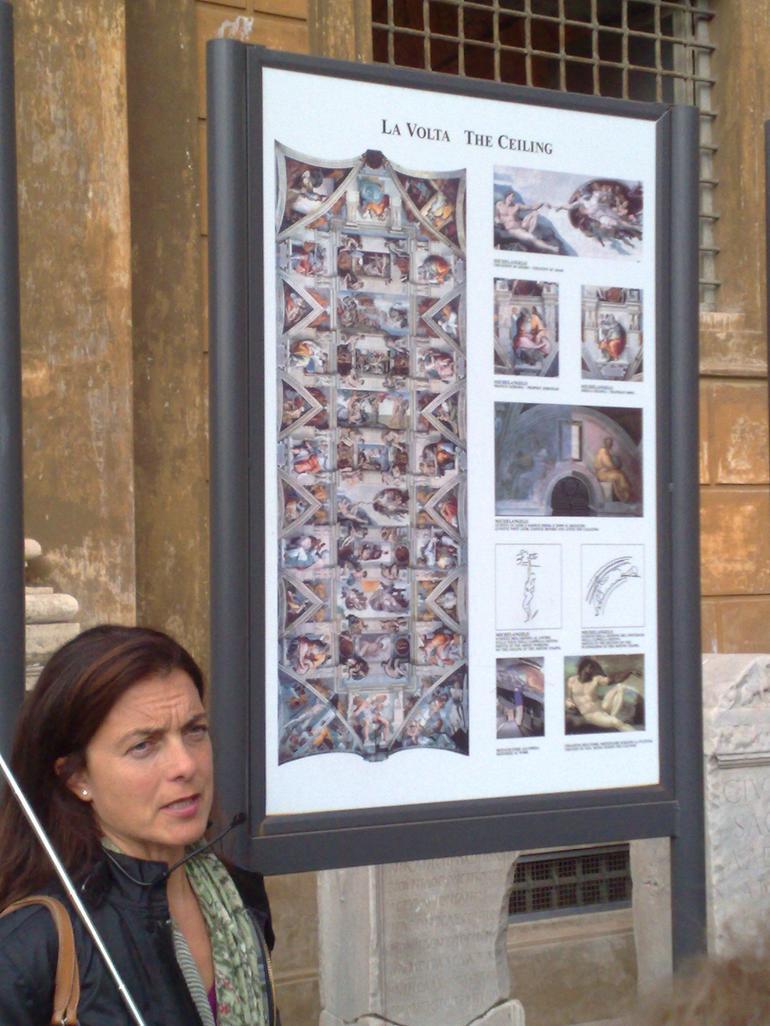 Guide presenting Sistine Chapel - Rome