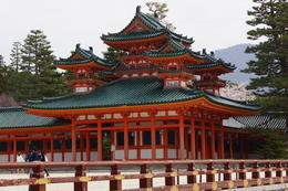 This is a beautiful example of the Shinto Shrines in Kyoto , Nita - April 2014
