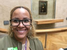 Here I am by the Mona Lisa inside of the Louvre. , ijanayajacob22 - July 2016
