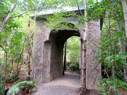 The doors of Rivendell in the Kaitoke Regional Park , Shirls - May 2015