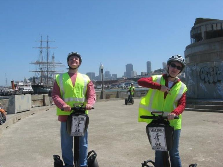 Segway practice laps on the pier - San Francisco