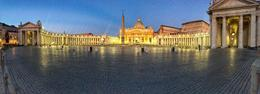 View of St Peters Square before the crowds arrive , onebeachcowboy - October 2017