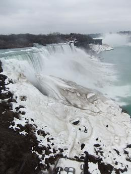 American Falls and Niagra falls in background. Lots of ice around! Photo taken from USA March 2011 , Shaun K - March 2011