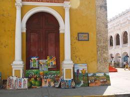 Columbian church corner in Cartagena , Michael C - April 2015