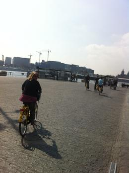 Riding back to the ferry (directly behind Amsterdam Centraal!) and then finishing the tour. Wonderful day and perfect April weather!, Dominique - September 2011