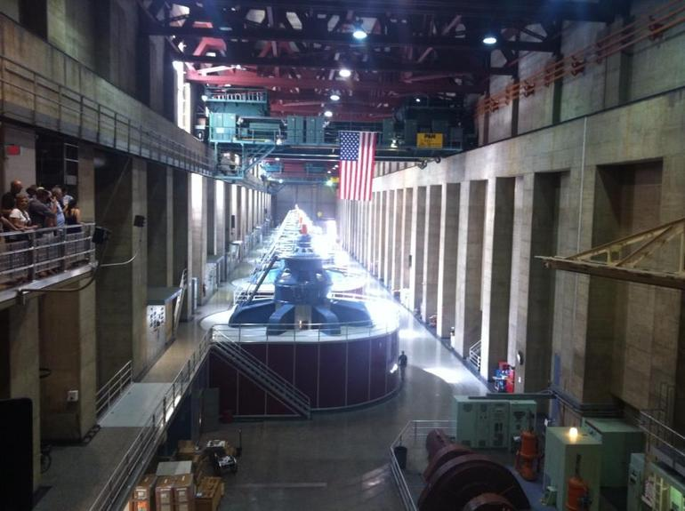 Generator room inside Dam - Las Vegas