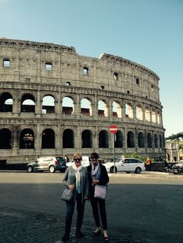 My friend Ann and I enjoying our Colosseum visit - May 2016. , Marsha G - May 2016