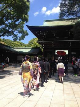 We were so lucky to witness a traditional wedding in Meiji Shrine!, Bing - August 2014