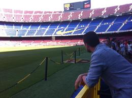 CAMPNOU-BARÇA. Capacity apx. is 95000 people , GOKHAN N - July 2012