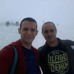 Snow at the top of mountain Titlis , Hisham K - August 2015