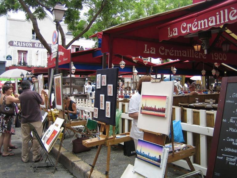 The artist area at Montmartre Paris - London