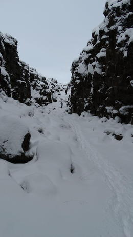 This really is the gorge, just had a couple of metres of snow when we visited , Fraser P - April 2016