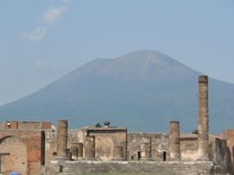 Pompei's forum and Vesuvius , Velyan S - September 2015