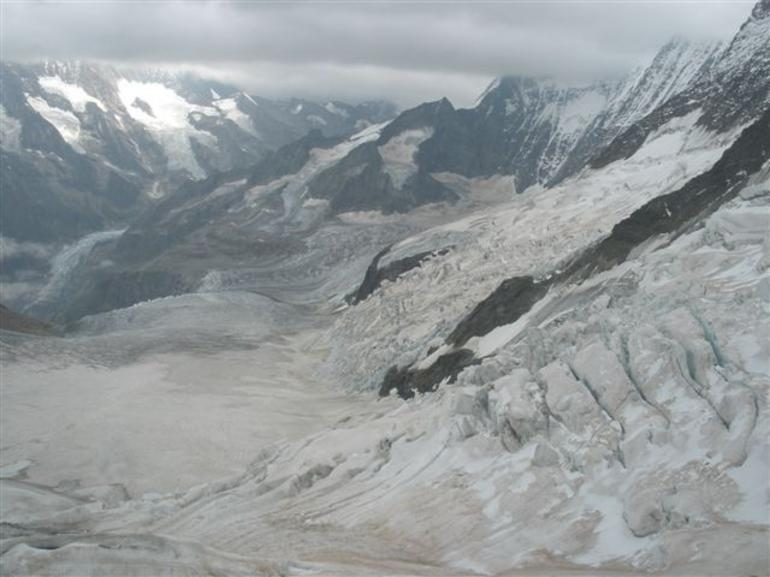 View of the Aletsch Glacier. - Zurich
