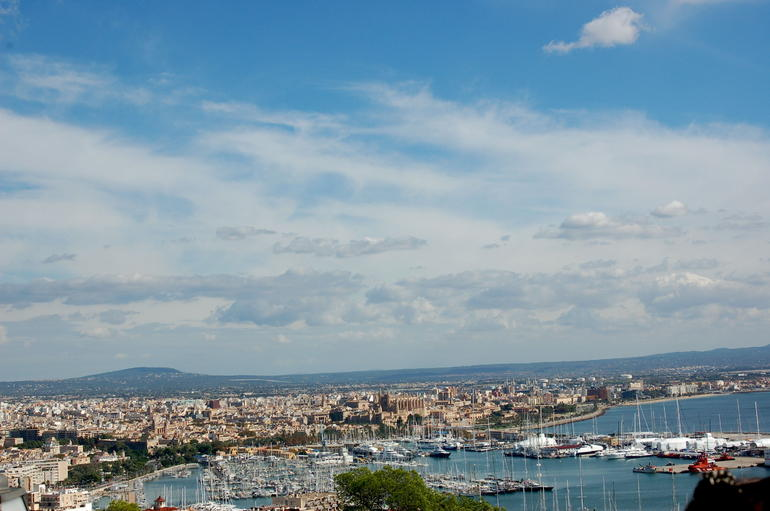 View of the port from the top of the hill - Mallorca