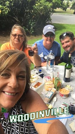 A perfect picnic lunch at St Michelle's winery! Beautiful gardens and delicious wines.. need I say more :- , Valorie T - August 2016