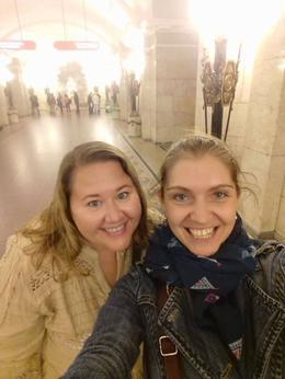 Me and Anastasia tour guide in the subway , Leia V - November 2016